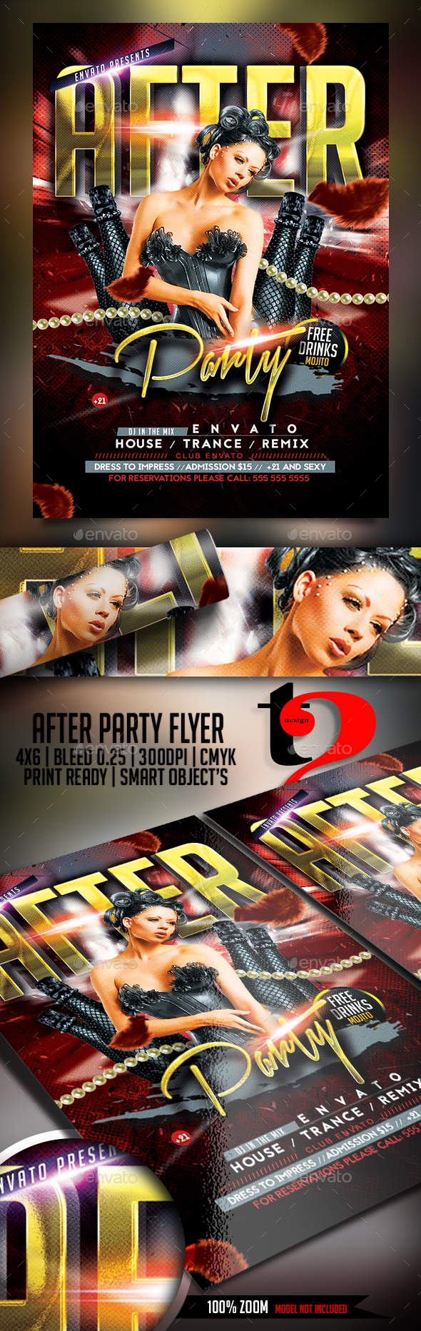 After Party Flyer-Template - Clubs & Parties Events
