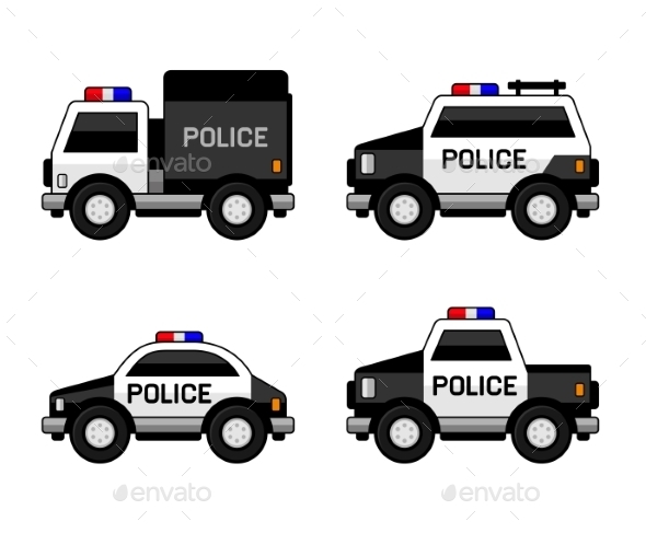 Police Car Set - Travel Conceptual