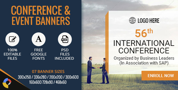 GWD | Conference & Events HTML5 Banners - 07 Sizes - CodeCanyon Item for Sale