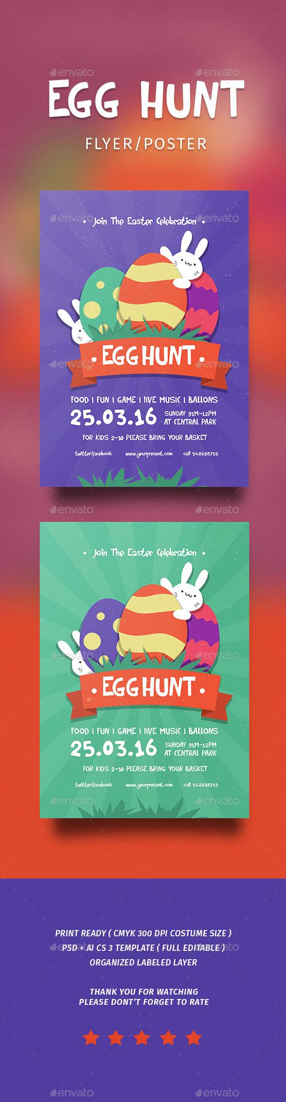 Egg Hunt Flyer - Events Flyers