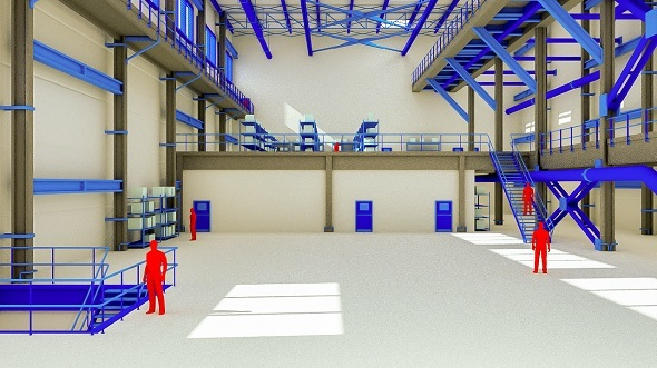 Factory interior - 3DOcean Item for Sale