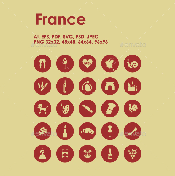 25 France icons - Objects Icons