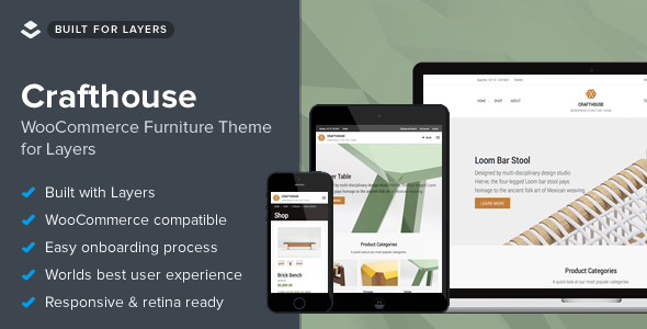 Crafthouse – WooCommerce Furniture Theme