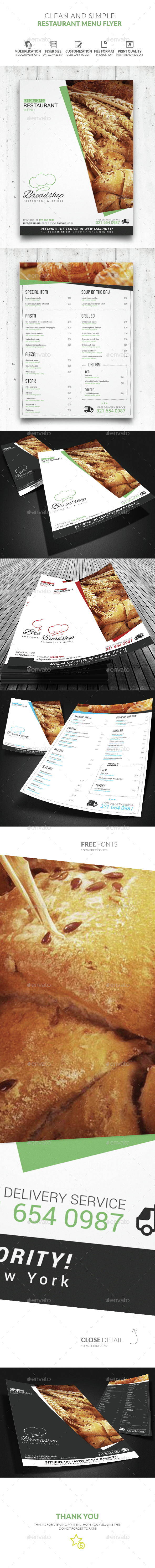 Food Menu - Restaurant Flyers