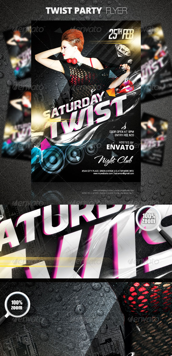Twist Party Flyer - Clubs & Parties Events