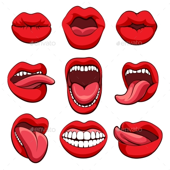 Mouths Expressions Set - Miscellaneous Conceptual
