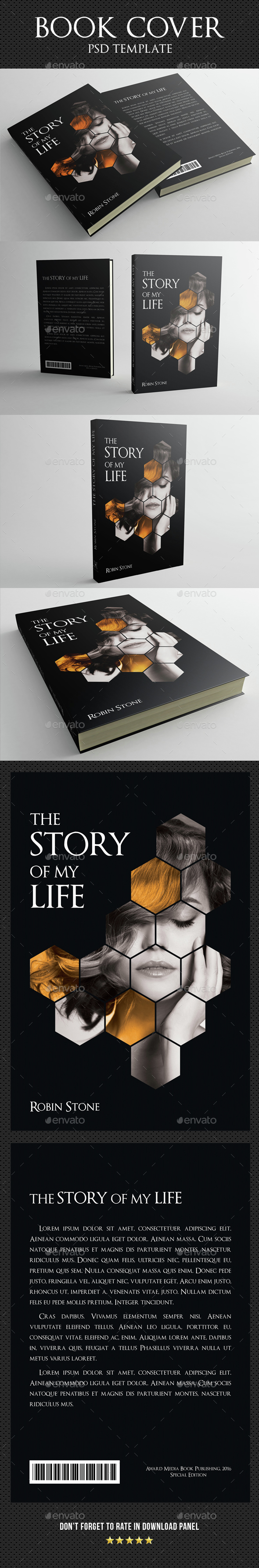 Book Cover Template 02 - Miscellaneous Print Templates