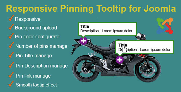 Responsive Pinning Tooltip for Joomla - CodeCanyon Item for Sale