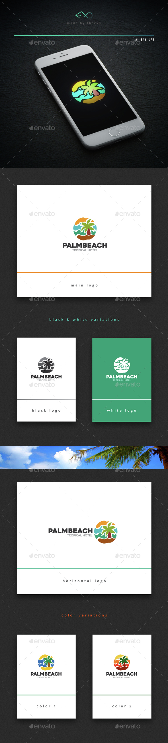 Palmbeach - Nature Logo Templates
