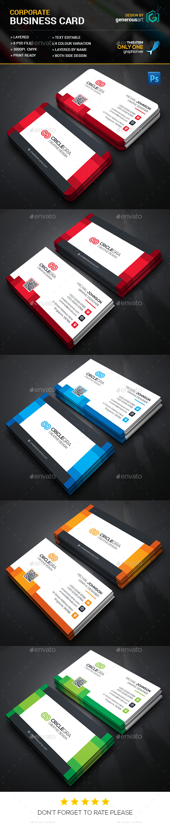 Corporate Business Card by generousart | GraphicRiver