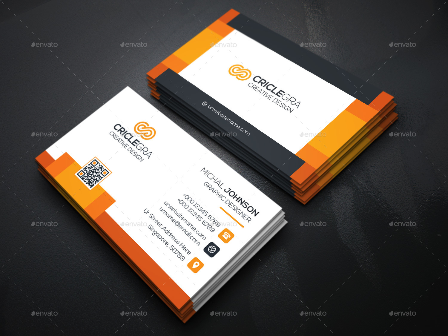 Corporate business card by generousart graphicriver image set04technology business cardg reheart