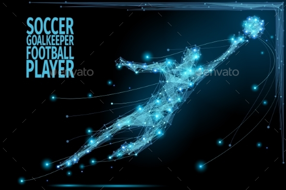 Goalkeeper Poly Soccer - Sports/Activity Conceptual