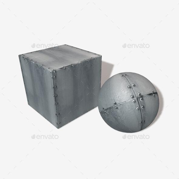 Riveted Metal Seamless Texture
