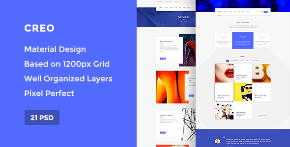 Creo — Modern Design Studio/Creative Agency PSD Template