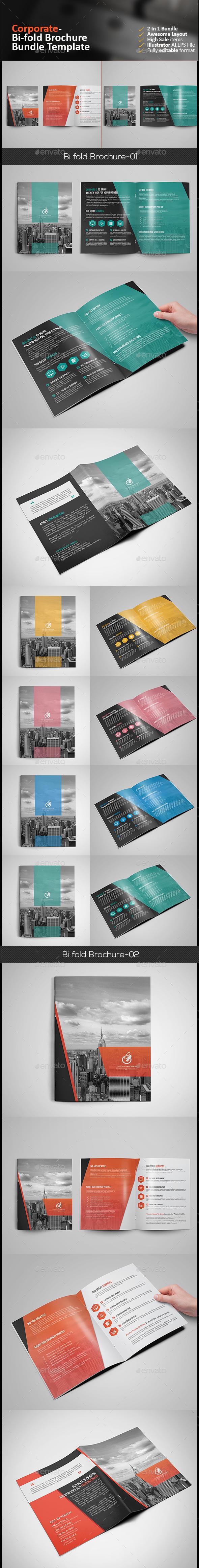 Corporate Bi Fold Brochure Bundle - Corporate Brochures
