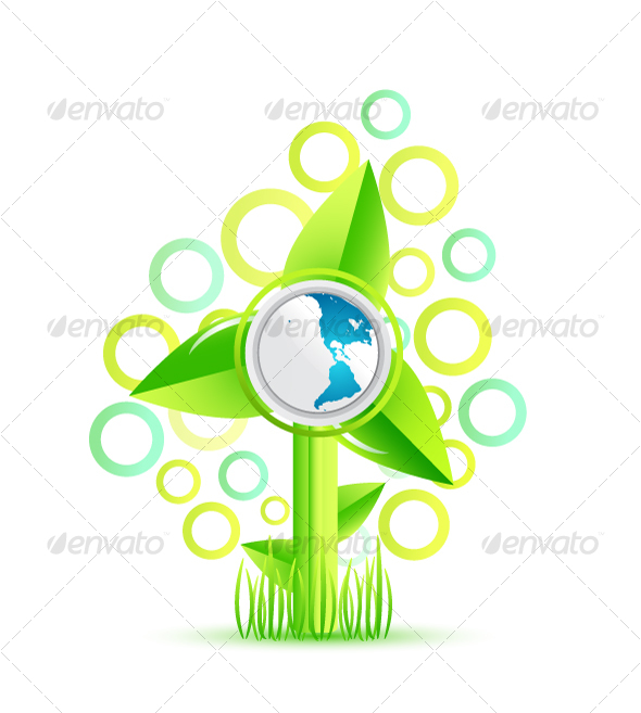Environmental windmill concept - Nature Conceptual