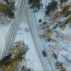 Flight Of The Car In The Woods. Car On Forest Road. Winter - VideoHive Item for Sale