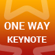 One Way Keynote Presentation Template - GraphicRiver Item for Sale