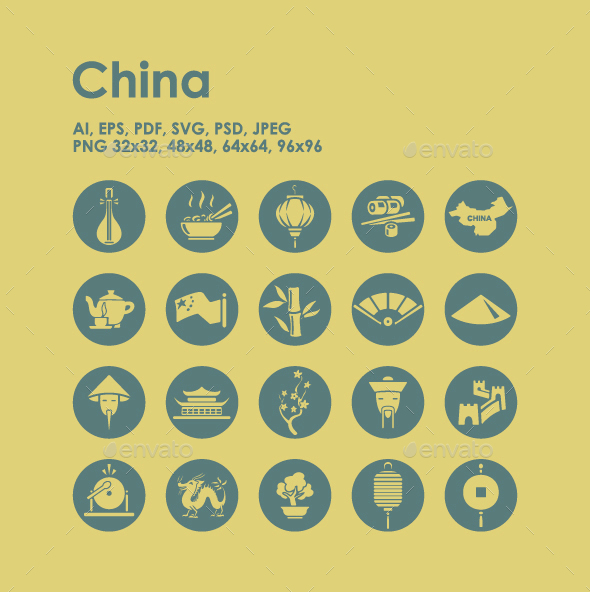 20 China icons - Objects Icons