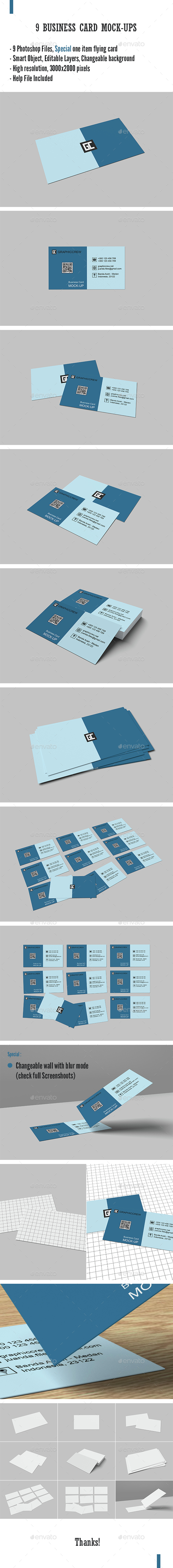 9 Business Card Mockup - Business Cards Print