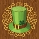 Colorful St. Patricks Day Hat With Clover