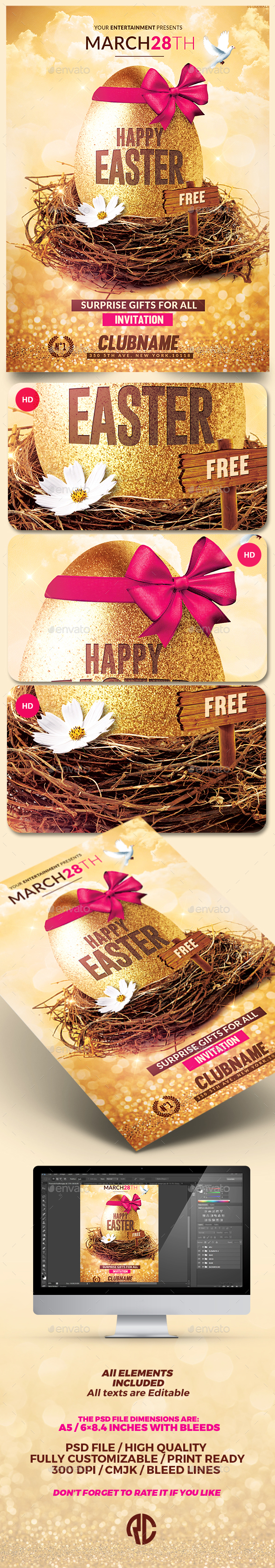 Happy Easter | Flyer Psd Template - Events Flyers