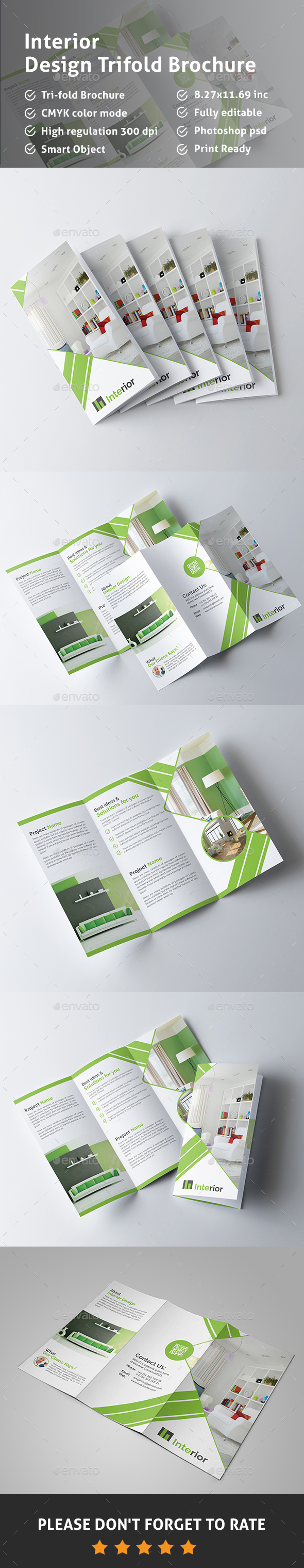 Interior Design Trifold Brochure - Corporate Brochures