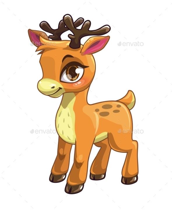 Cartoon Baby Deer - Animals Characters