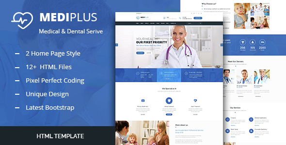 Medi Plus - Health And Medical HTML Template - Health & Beauty Retail