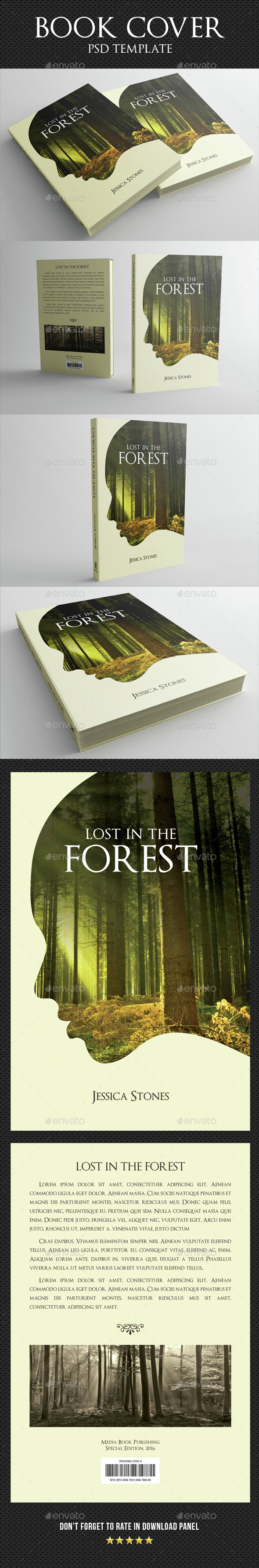 Book Cover Template 04 - Miscellaneous Print Templates