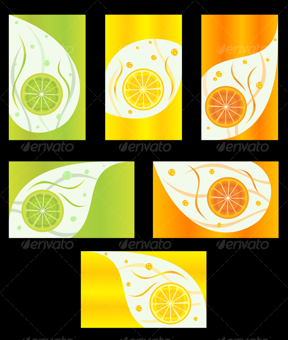 Background with fruit - Backgrounds Decorative