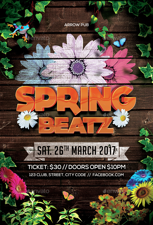 Spring Party Flyer By Arrow3000 | Graphicriver