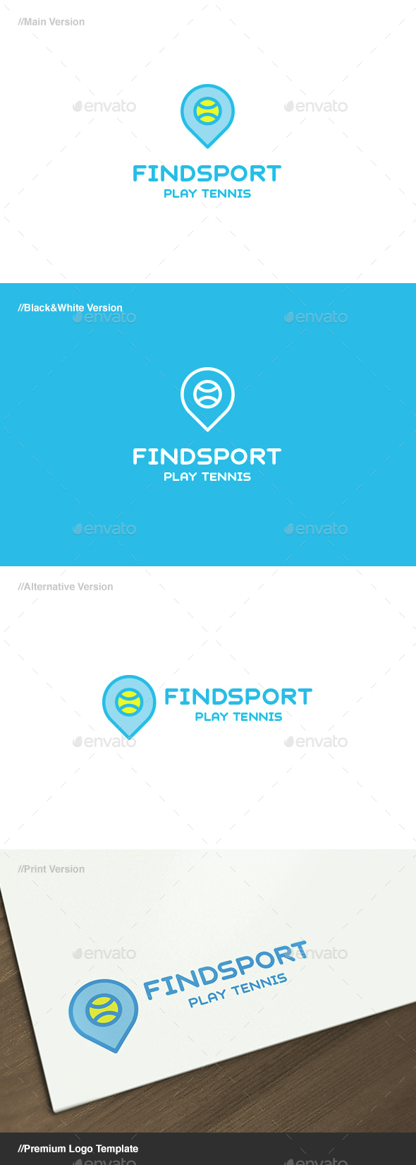 Find Sport Logo - Objects Logo Templates