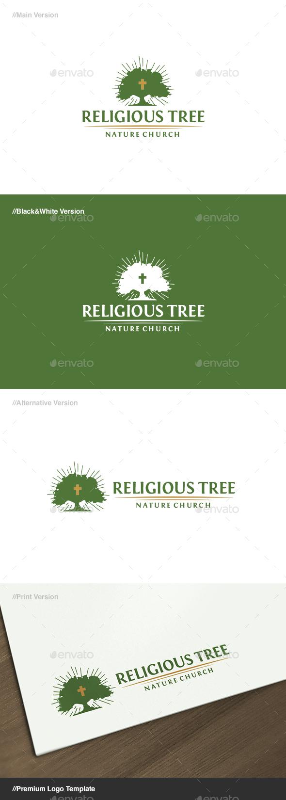 Religious Tree Logo - Nature Logo Templates