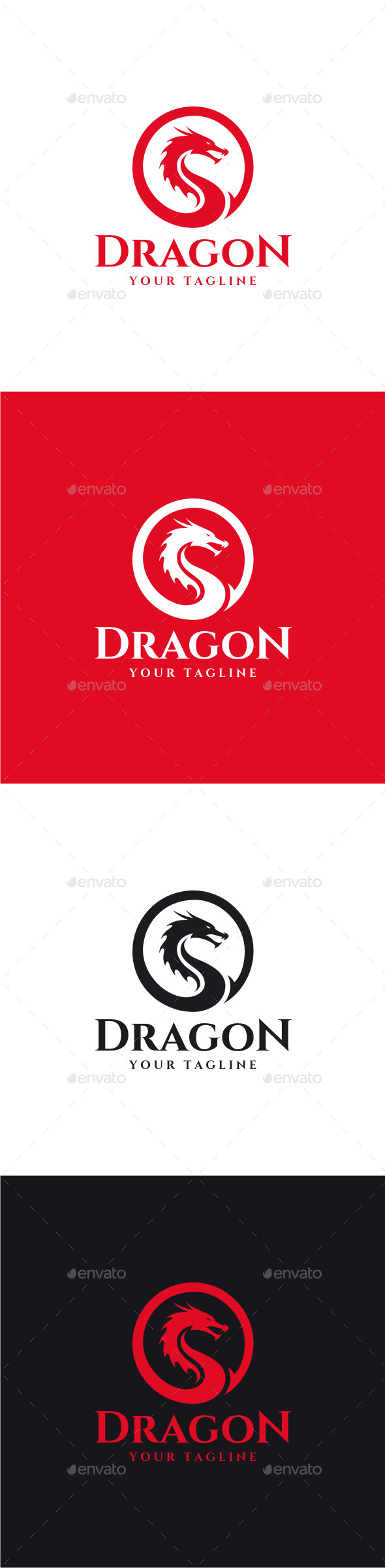 Dragon - Animals Logo Templates