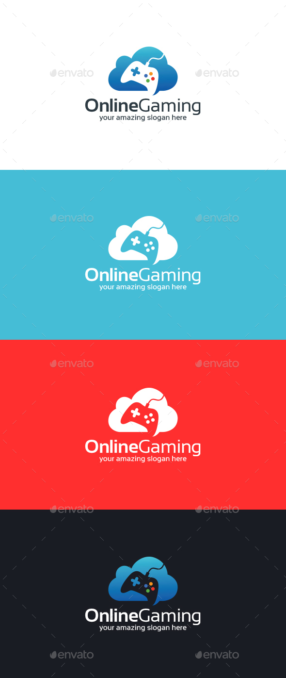 Online Gaming Logo Template - Symbols Logo Templates