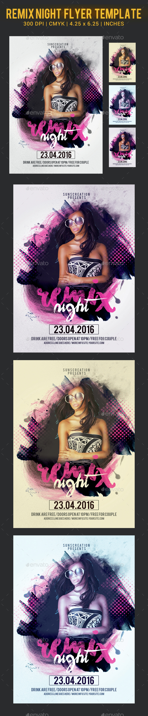 Remix Night Party FlyerTemplate - Clubs & Parties Events