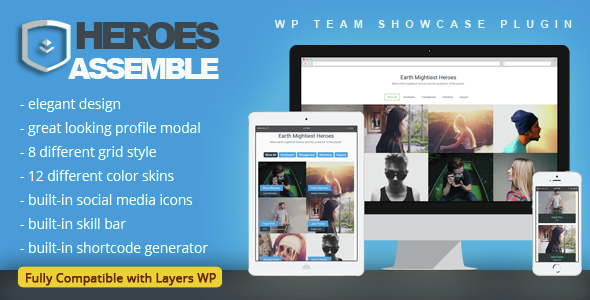 Heroes Assemble - Team Showcase WordPress Plugin - CodeCanyon Item for Sale
