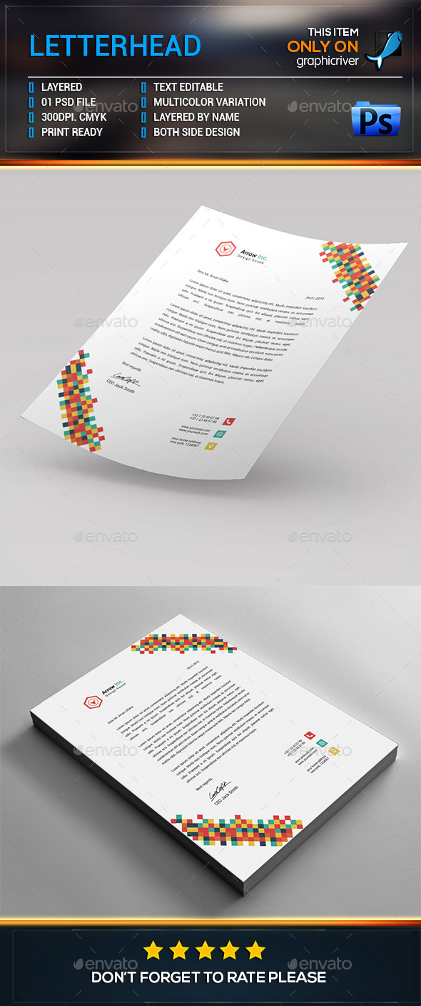 Letterhead Template. - Stationery Print Templates