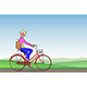 Girl on a Bicycle - GraphicRiver Item for Sale