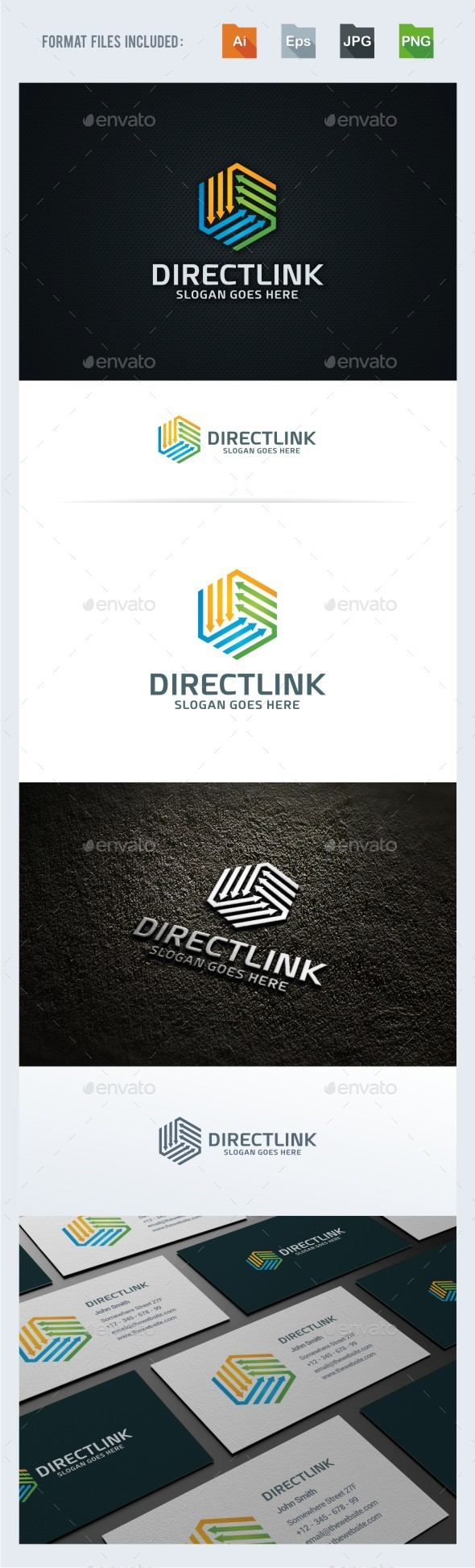 Directions / Arrow Logo Template - Symbols Logo Templates