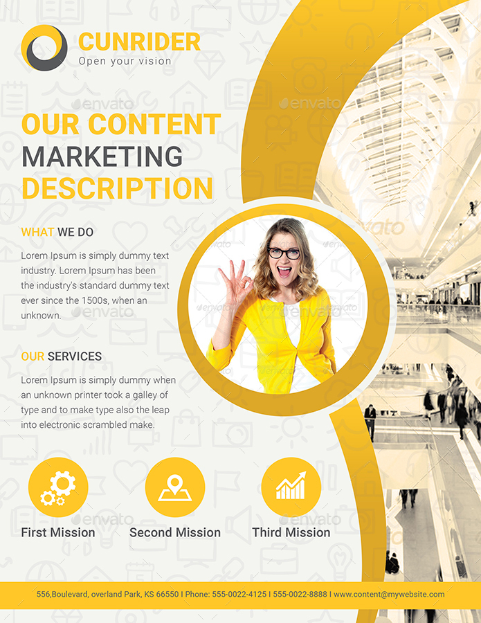 Content Marketing Flyer By Dotnpix | Graphicriver