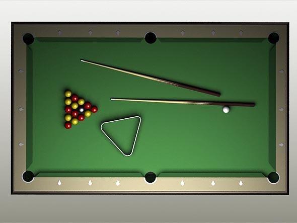 Billiard Pool Table By Jackoart 3docean