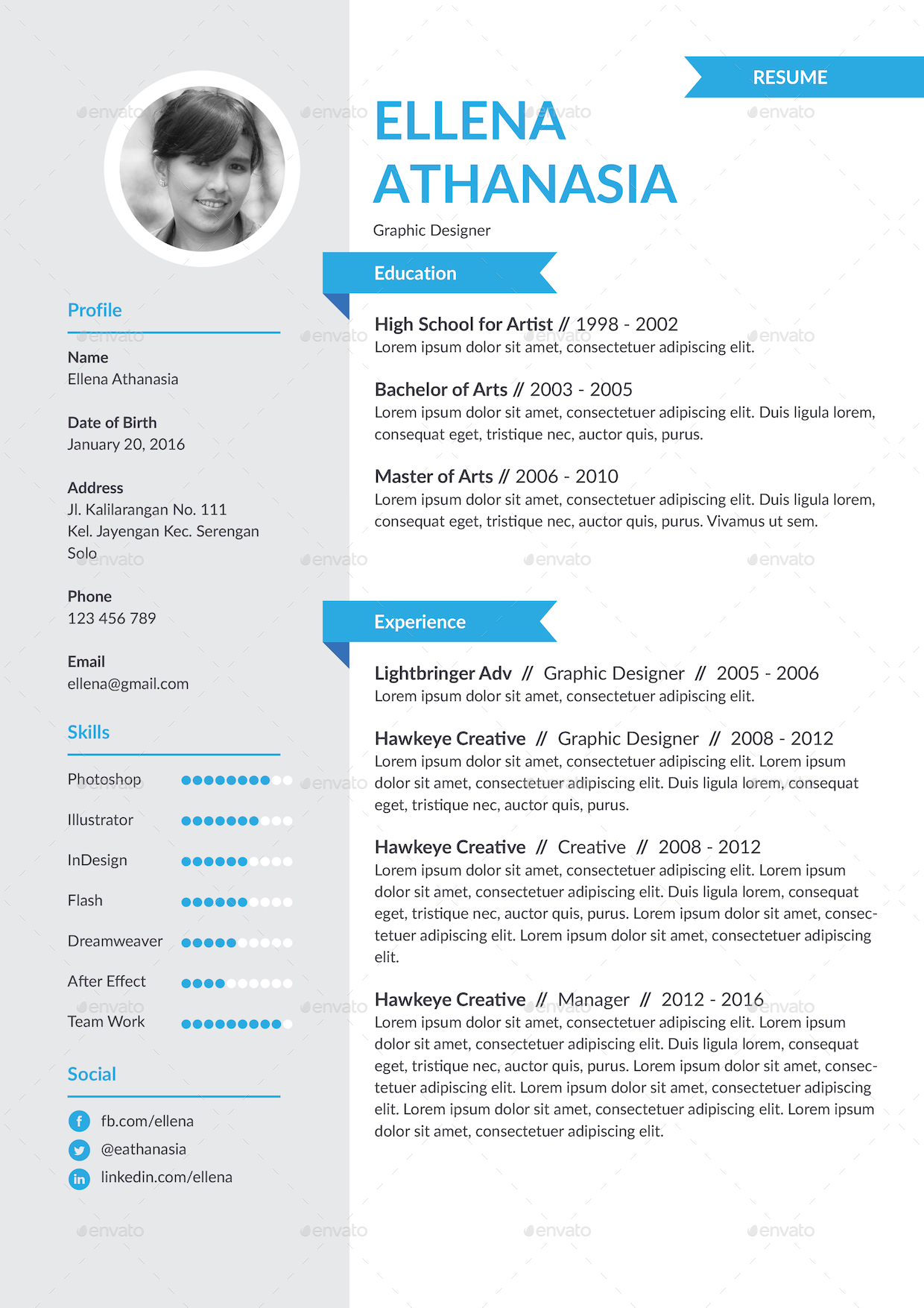 Personality Resume Template by