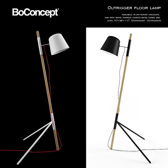 Boconcept Outrigger Floor Lamp - 3DOcean Item for Sale