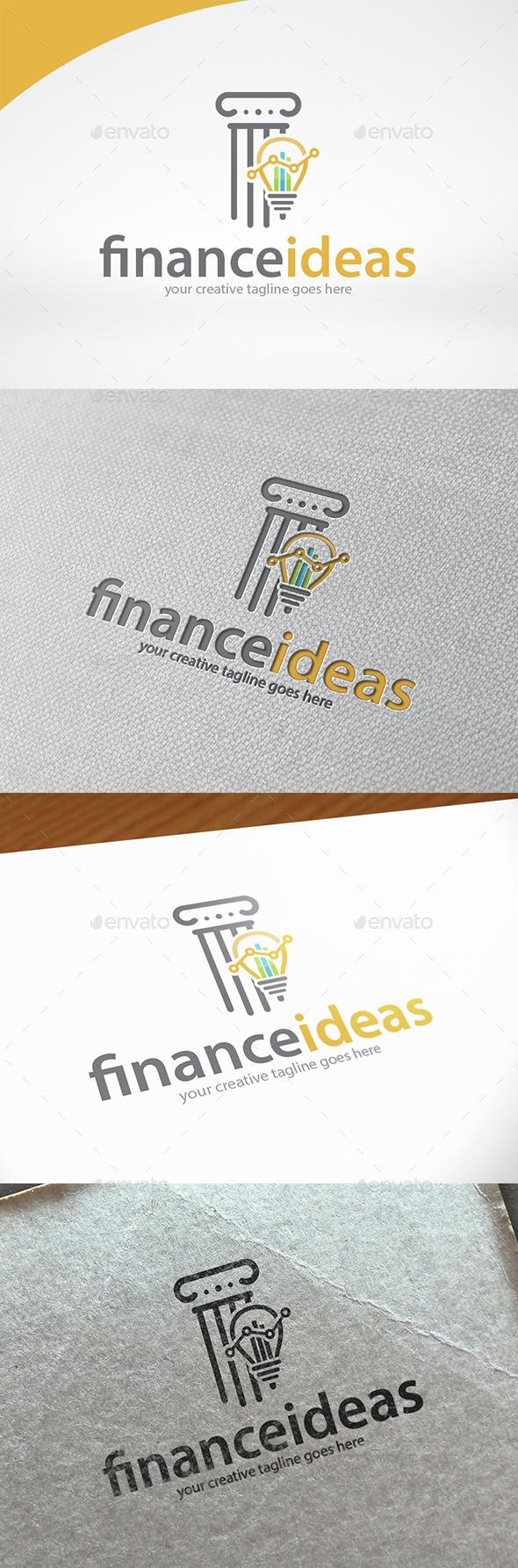 Finance Idea Logo Template - Symbols Logo Templates