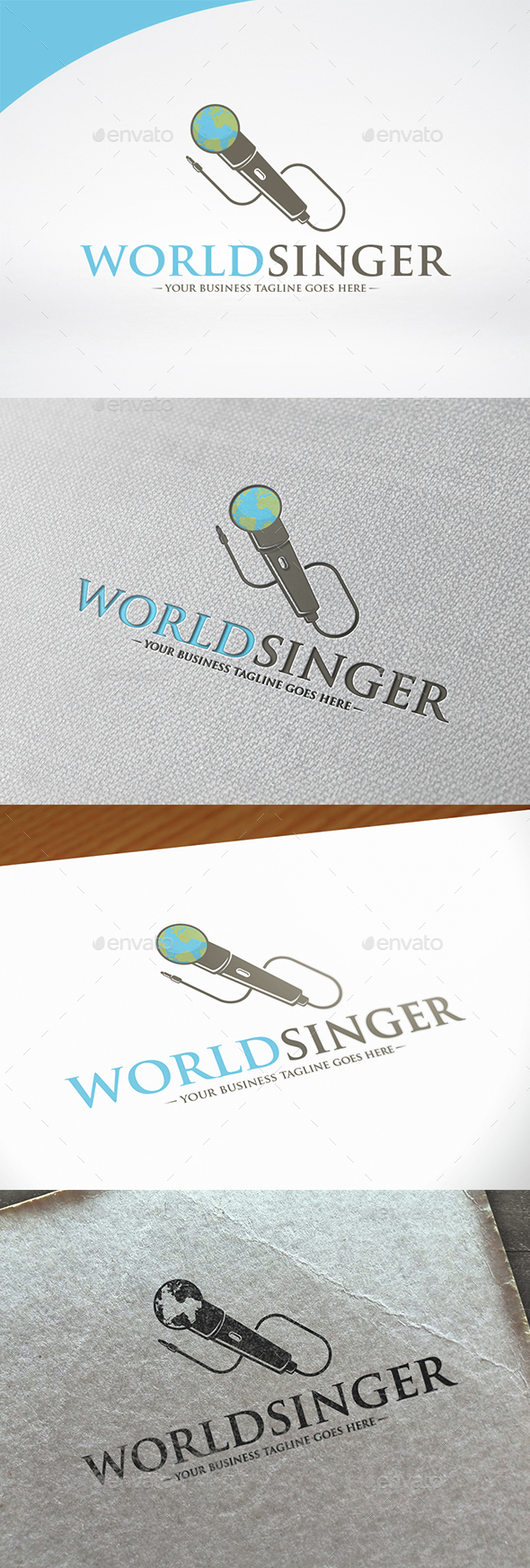 World Singer Logo Template - Objects Logo Templates