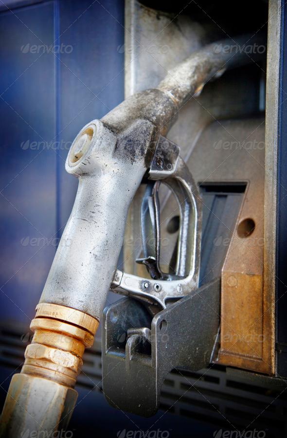 Gas pump nozzle - Stock Photo - Images