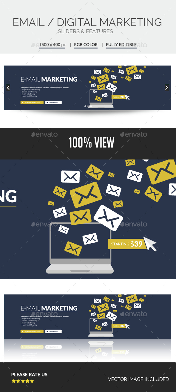 Email Marketing Slider - Sliders & Features Web Elements