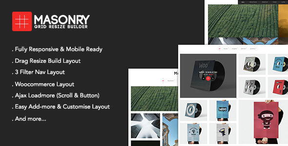 Masonry Grid Resize Builder - Wordpress Add-on VisualComposer - CodeCanyon Item for Sale